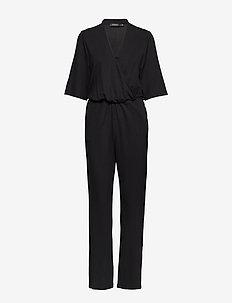 SLGenevieve Jumpsuit 1/2 - buksedragter - black