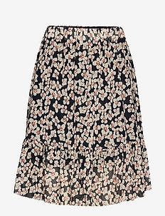 SLAldora Skirt - NIGHT SKY FLOWER PRINT