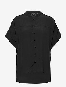 SLHelia Shirt SS - kortärmade skjortor - black