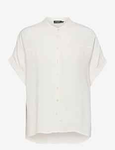 SLHelia Shirt SS - kortärmade skjortor - broken white