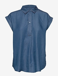 SLDariana Shirt SS - MEDIUM BLUE DENIM