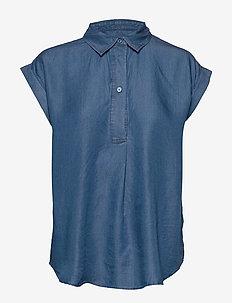 SLDariana Shirt SS - jeansowe koszule - medium blue denim