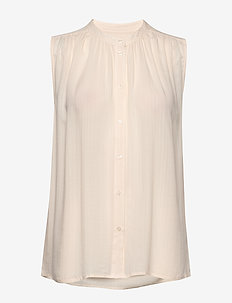 SLNadeen Top - blouses zonder mouwen - antique white