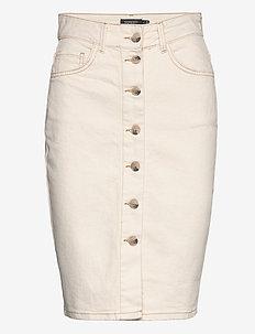 SLShani Skirt - midinederdele - antique white