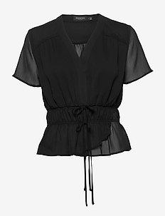 SLDafni Blouse SS - lyhythihaiset puserot - black