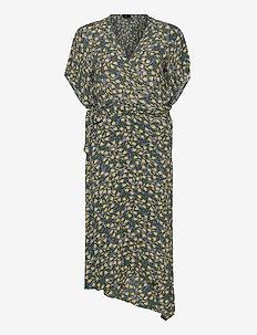 SLIlio Dress SS - slå-om-kjoler - small flower flint stone