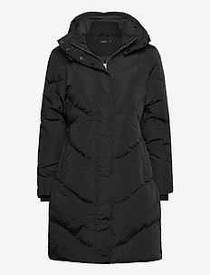 SLMala Hoodie Coat - wyściełane płaszcze - black
