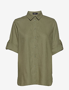 SLTurner Shirt - lyhythihaiset paidat - olivine