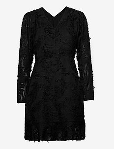 SLLennox Dress LS - sukienki do kolan i midi - black