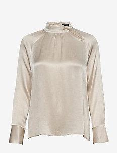 SLAriana Blouse LS - bluzki z długimi rękawami - rainy day