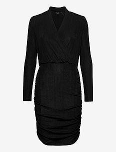 SLMieko Mini Dress LS - wrap dresses - black