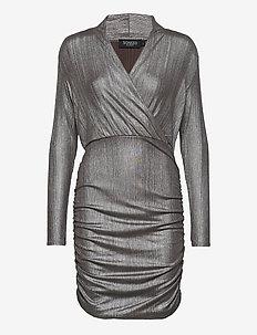 SLMieko Mini Dress LS - wrap dresses - silver