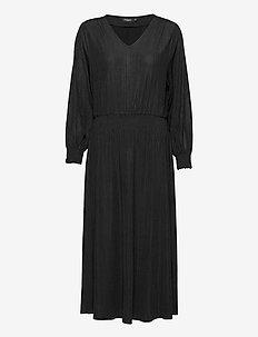 SLMieko Long Dress LS - sukienki do kolan i midi - black