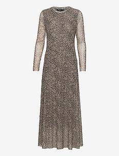 SLArine Dress LS - sukienki do kolan i midi - mini leopard dot