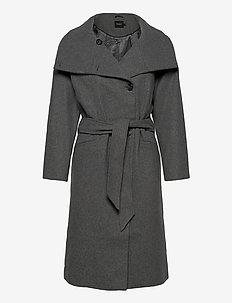 SLTomorrow Coat - ullkåper - dark grey melange