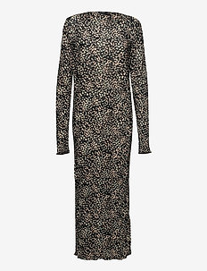 SLKarah Dress LS - everyday dresses - black bean print