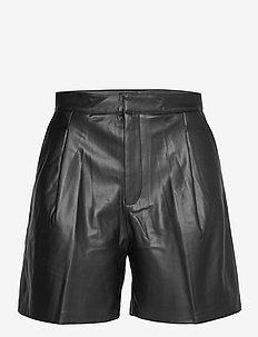 SLKarlee Shorts - læder shorts - black