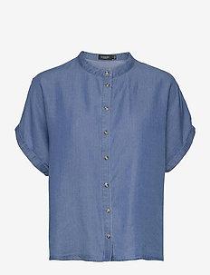 SLJones Shirt SS - jeanshemden - classic blue denim