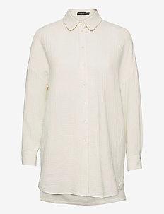 SLSonya Shirt LS - long-sleeved shirts - whisper white