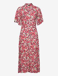 SLIndiana Rafina Shirt Dress SS - zomerjurken - multifloral cardinal