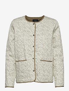 SLBanks Jacket LS - quiltede jakker - viol print whisper white