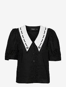 SLFlor Shirt - short-sleeved shirts - black