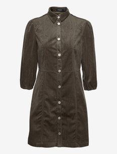 SLIlia Dress 3/4 - skjortekjoler - major brown