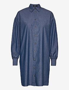 SLAlf Arcy Dress LS - robes chemises - classic blue denim