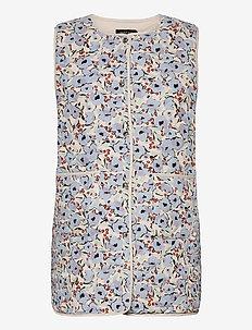 SLIde Waistcoat - vestes rembourrées - blue peonia print
