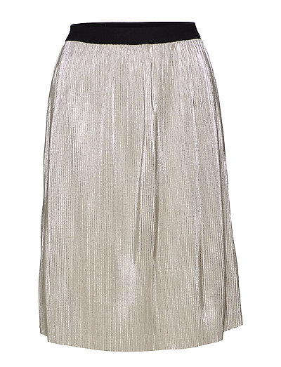 Iris Metallic Skirt - SILVER