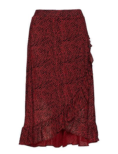 Tigi Wrap Skirt AS - RED ZEBRA PRINT