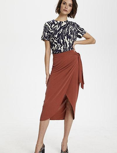 Soaked In Luxury Slcoluni Skirt- Röcke Barn Red