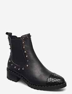 Boot 4,2 cm - platte enkellaarsjes - black