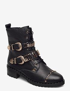 Boot - ankelstøvler med hæl - black