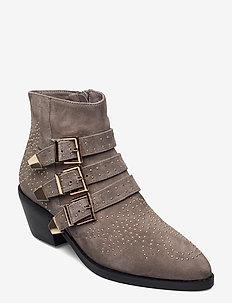 Boot 5,5 CM - enkellaarsjes met hak - grey