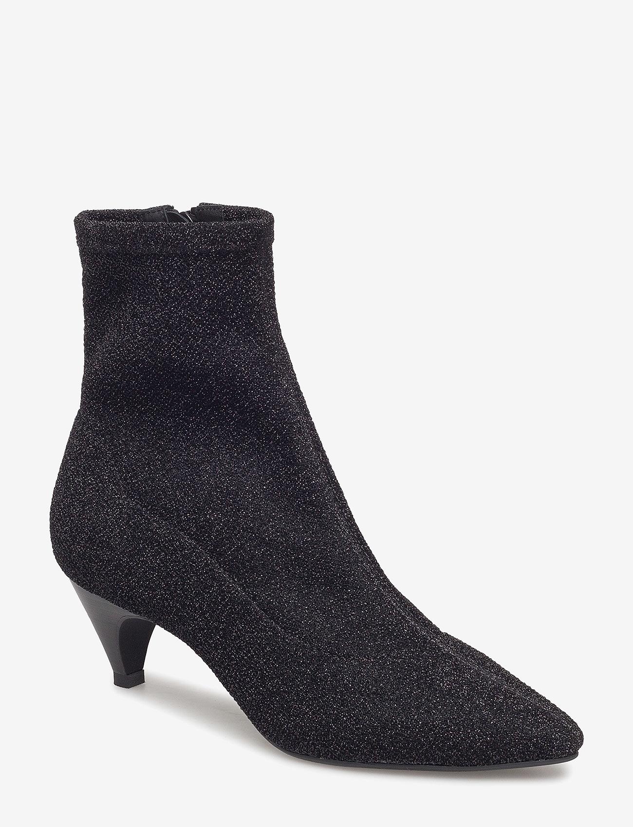Sofie Schnoor - Boot high textile - ankelstøvler med hæl - black - 0