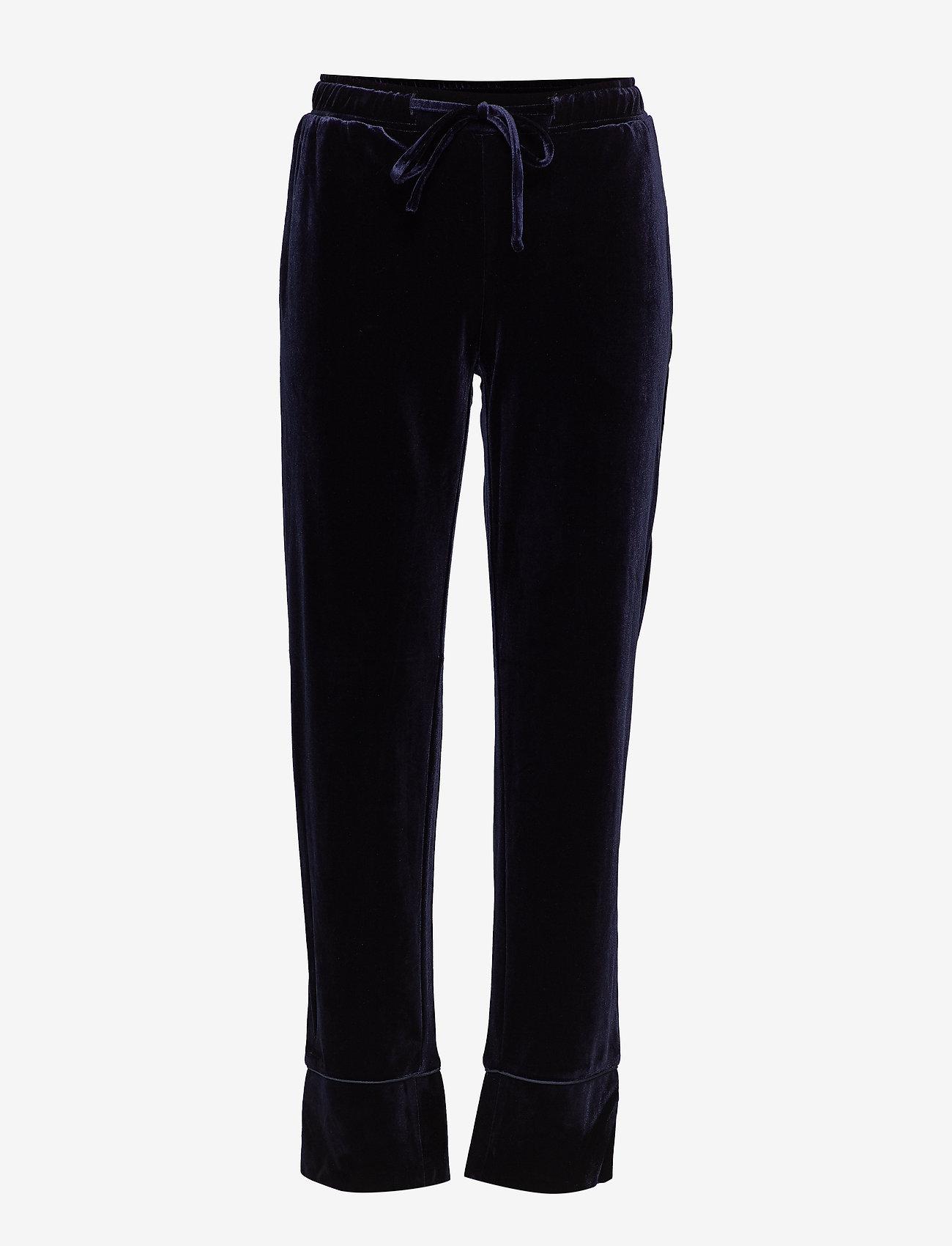 Sofie Schnoor - Pants - wide leg trousers - d.blue - 0
