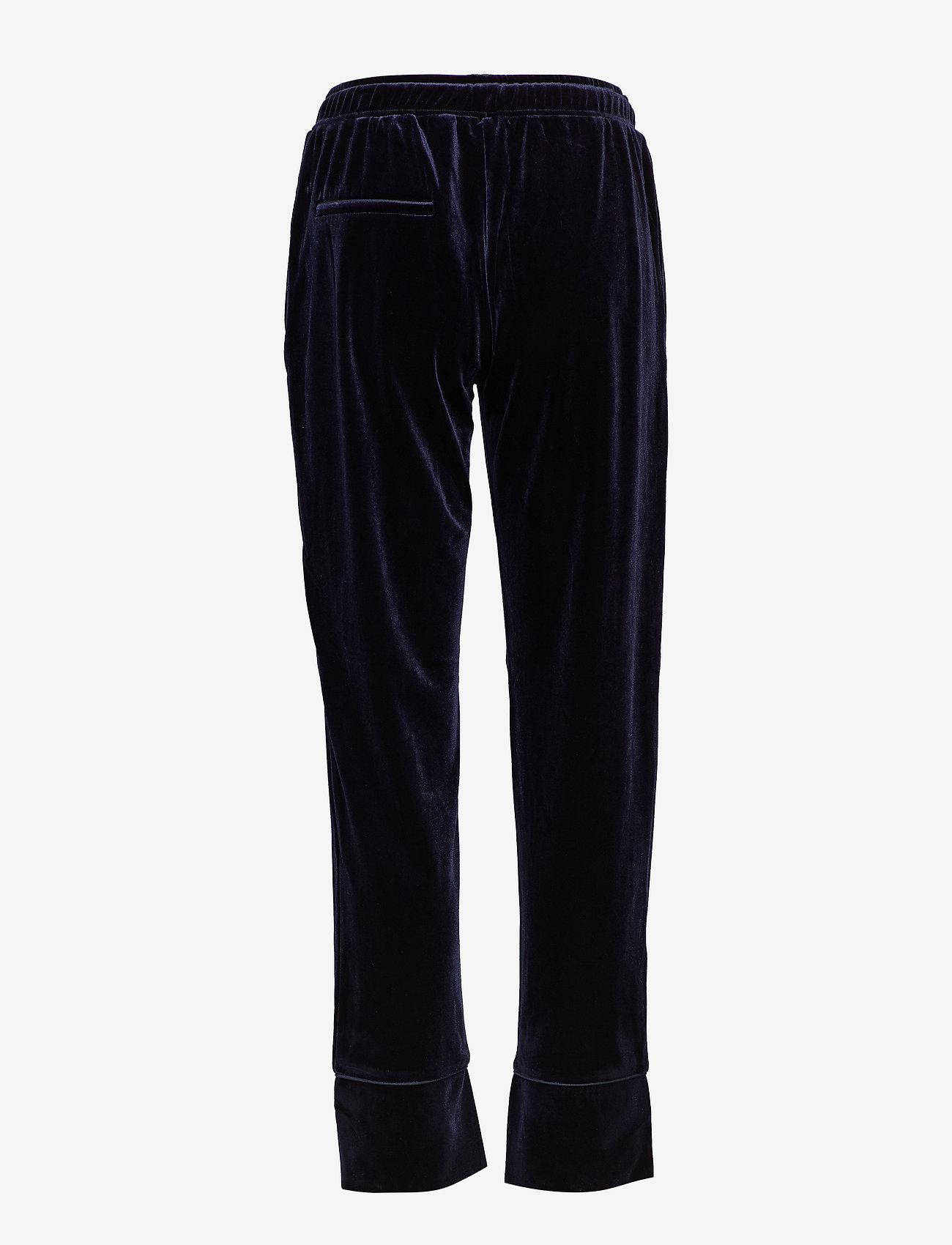 Sofie Schnoor - Pants - wide leg trousers - d.blue - 1