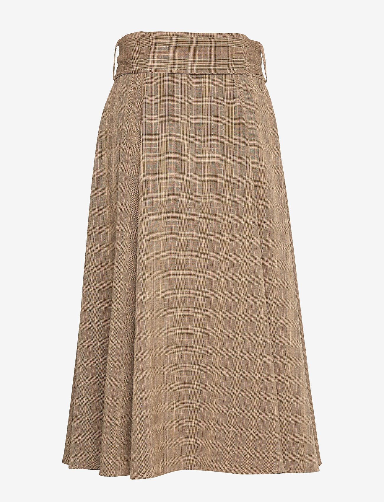 Sofie Schnoor - Skirt - midinederdele - brown check - 1