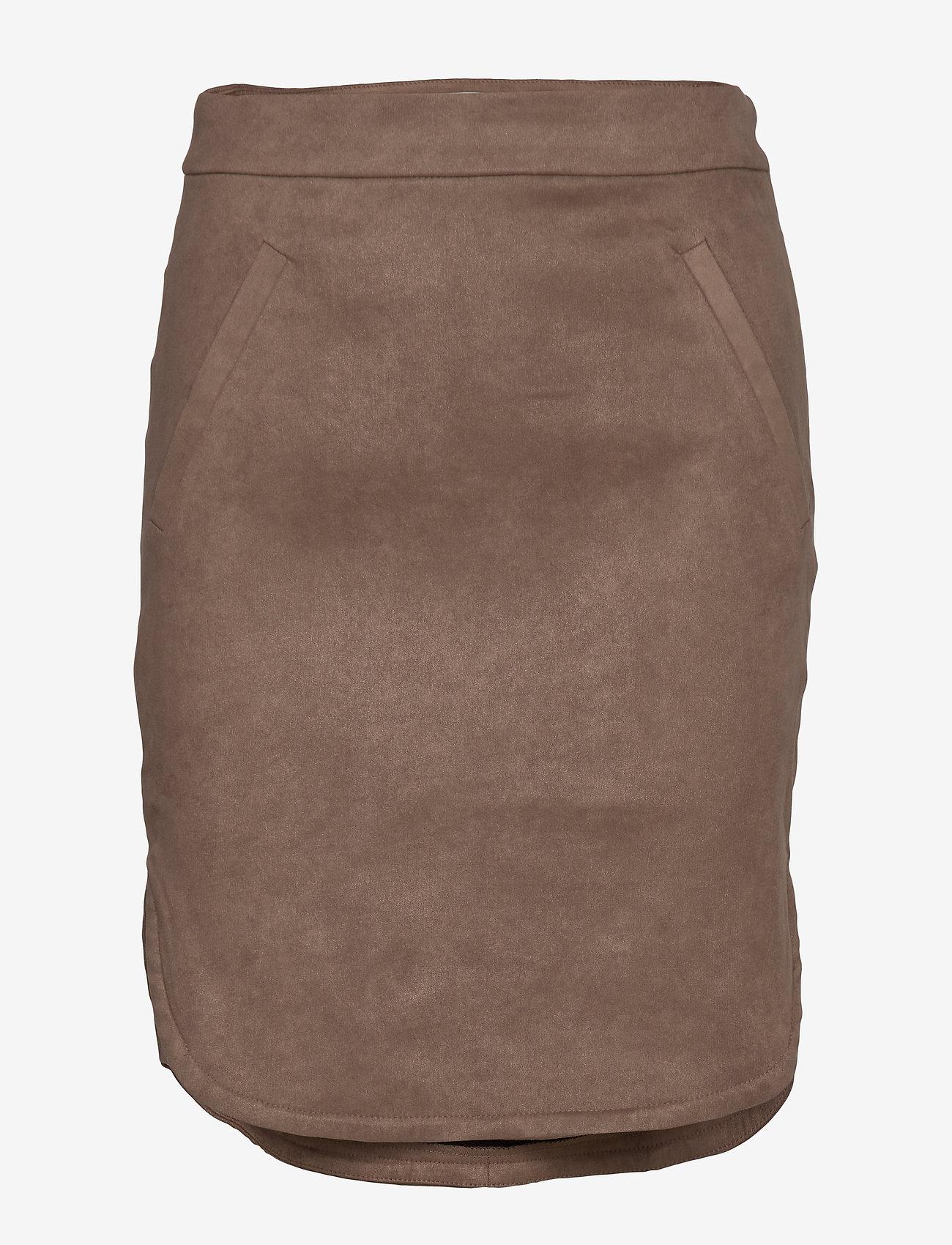 Sofie Schnoor - Skirt - midinederdele - dark brown - 0