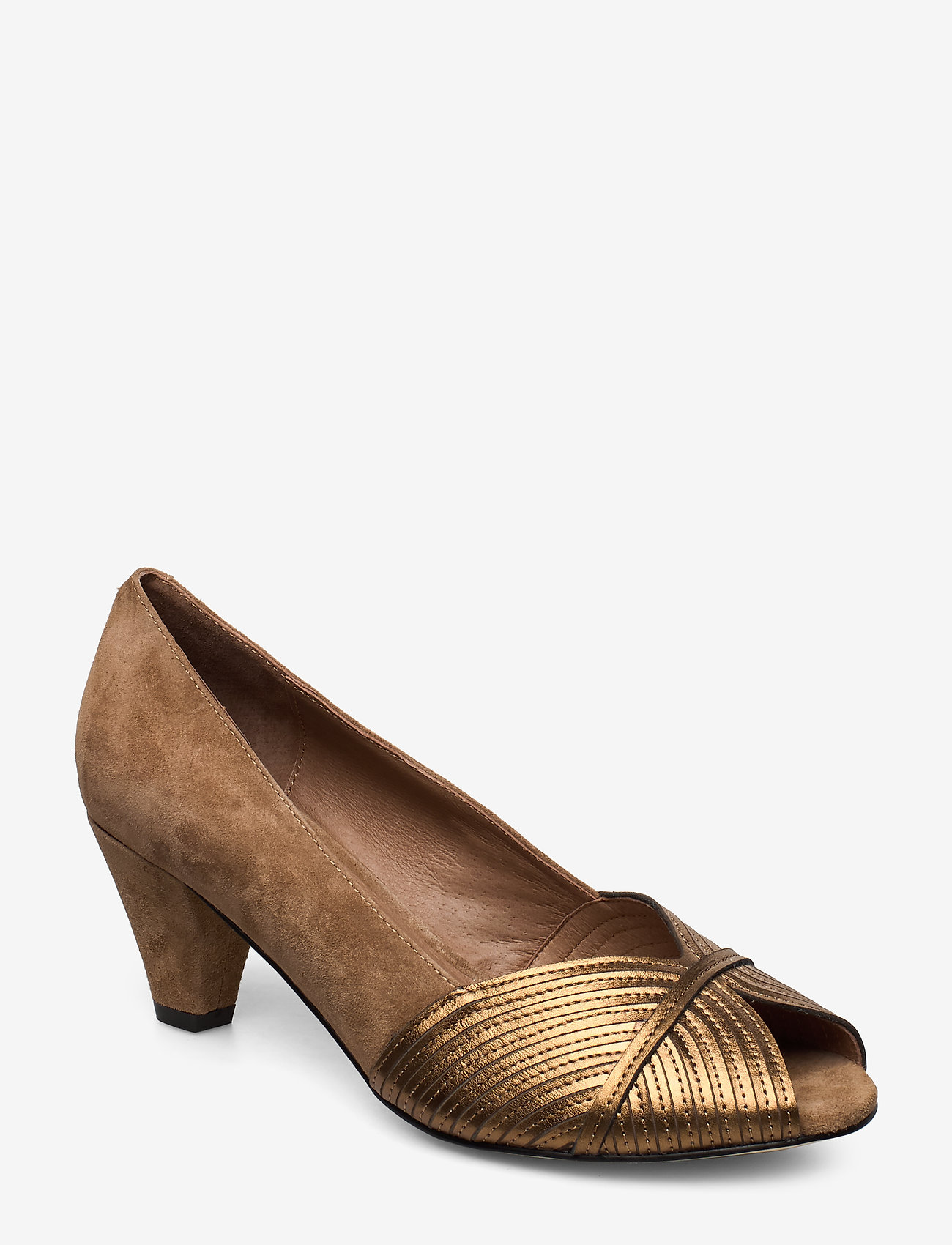 Sofie Schnoor - Shoe - peeptoes - toffee - 0