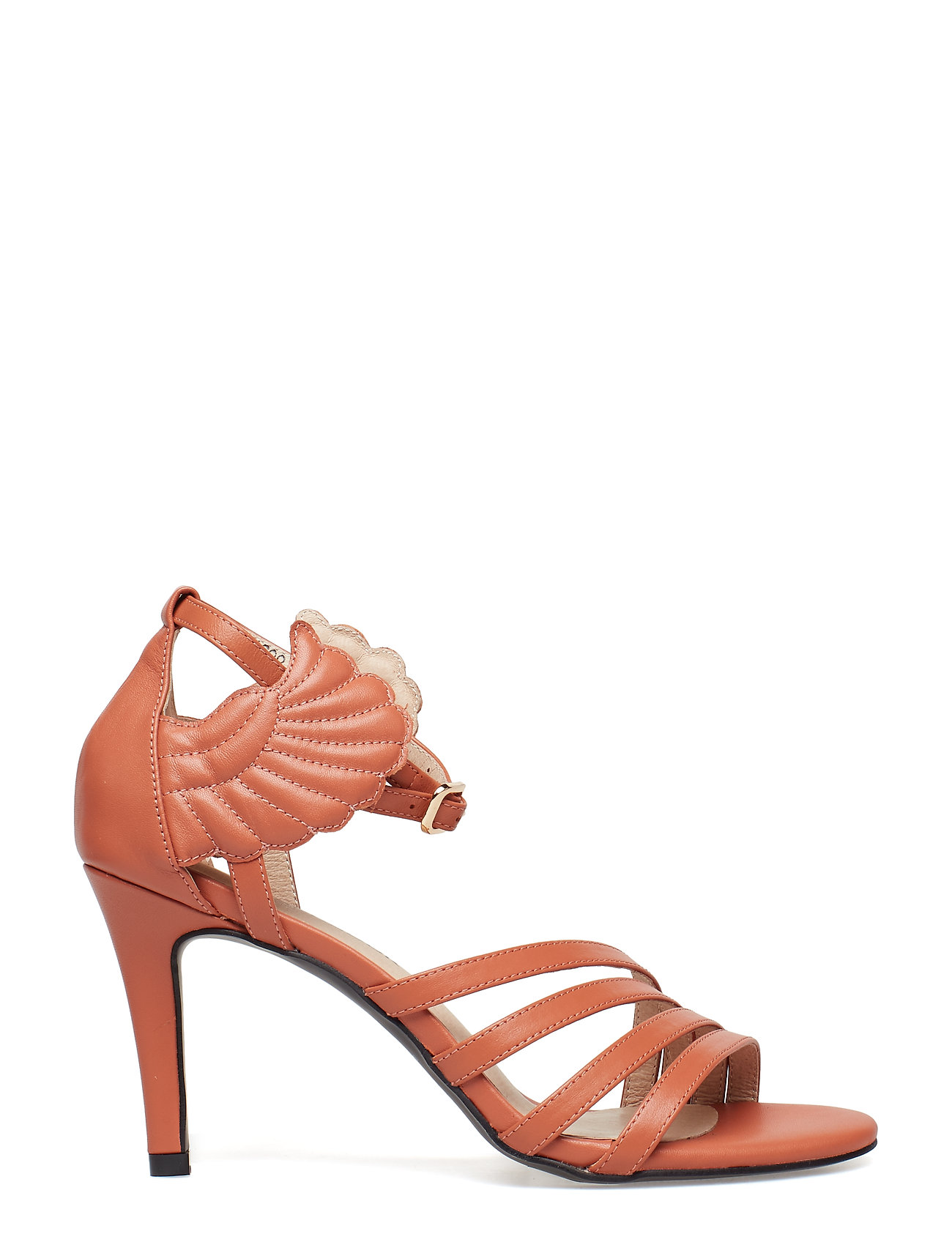 Stiletto Wings Sandal Med Hæl Orange SOFIE SCHNOOR