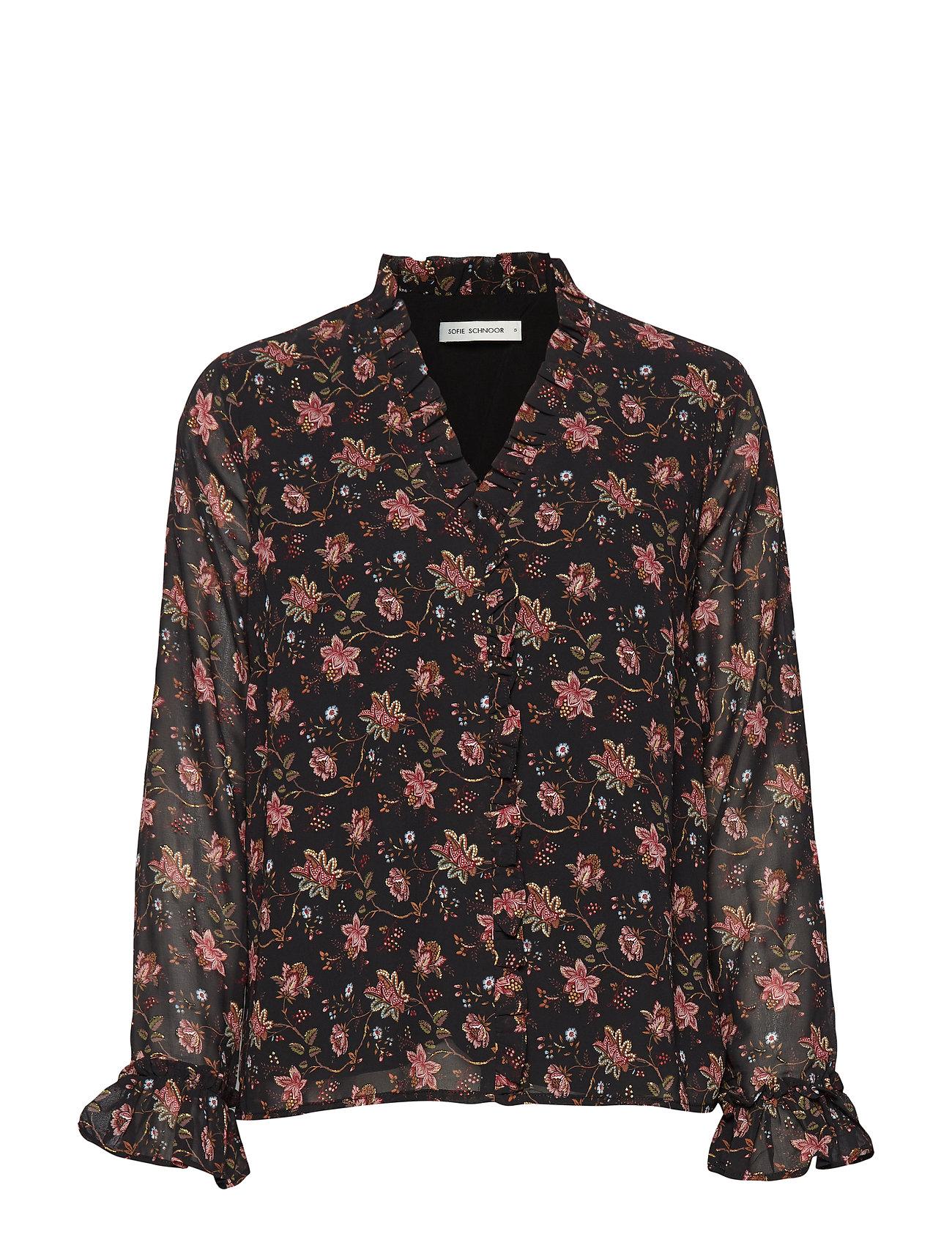 Sofie Schnoor Shirt - AOP FLOW BLK