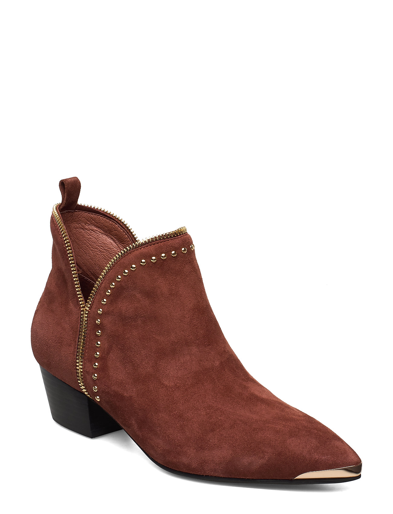 Image of Boot, Rivet Gold Shoes Boots Ankle Boots Ankle Boots With Heel Brun Sofie Schnoor (3344406963)