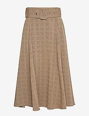 Sofie Schnoor - Skirt - midinederdele - brown check - 0