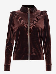 Sofie Schnoor - Bomber - sweatshirts - dark brown - 0