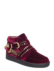 boot loafer - DARK RED