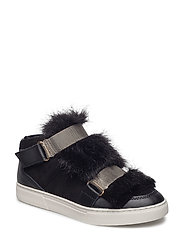 boot w. fur - BLACK
