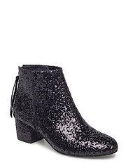 Boot Glitter low heel - BLACK