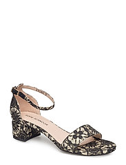 flat jaquard sandal - BLACK GOLD